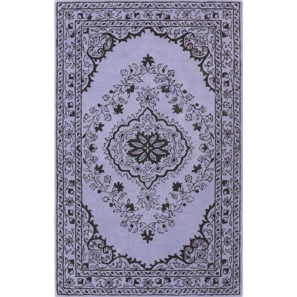 Safavieh Handmade Glamour Contemporary Bohemian Purple Viscose Rug - 2' x 3'