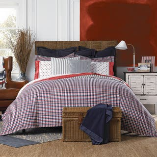 Tommy Hilfiger Timeless Plaid Reversible Cotton Comforter Set|https://ak1.ostkcdn.com/images/products/13325006/P20029683.jpg?impolicy=medium