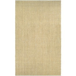 Couristan Inc Ambary Beige/Sand Jute and Cotton Handcrafted Area Rug (2' x 4')
