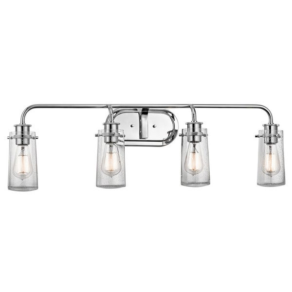 shop kichler lighting braelyn collection 4 light chrome 13301