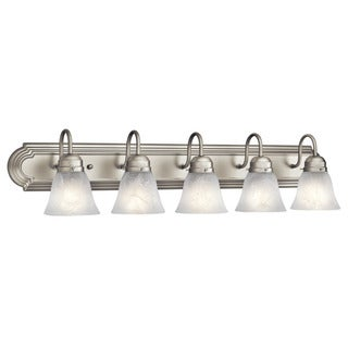 Kichler Lighting Utilitarian 5-light Brushed Nickel Bath/Vanity Light