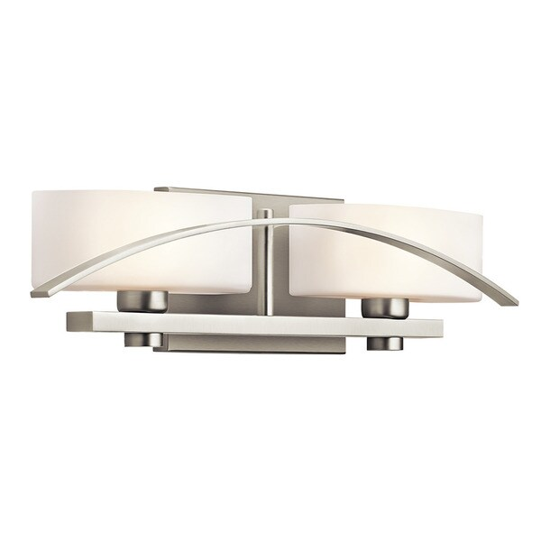 Shop Kichler Lighting Suspension Collection 2 Light Brushed Nickel