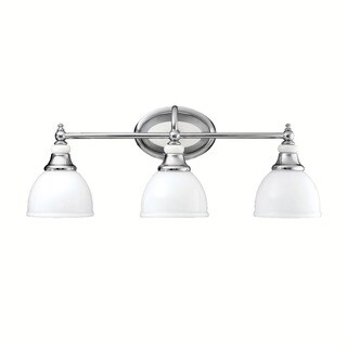 Kichler Lighting Pocelona Collection 3-light Chrome Bath/Vanity Light