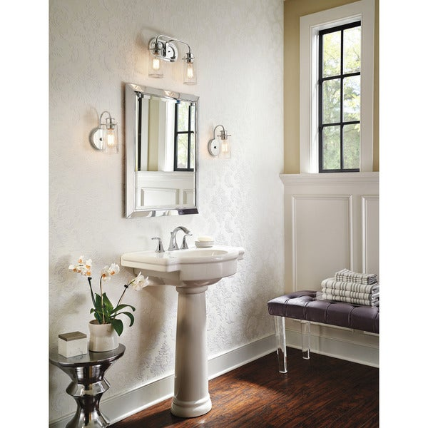 Shop kichler lighting braelyn collection 2 light chrome for 6 light bathroom vanity light