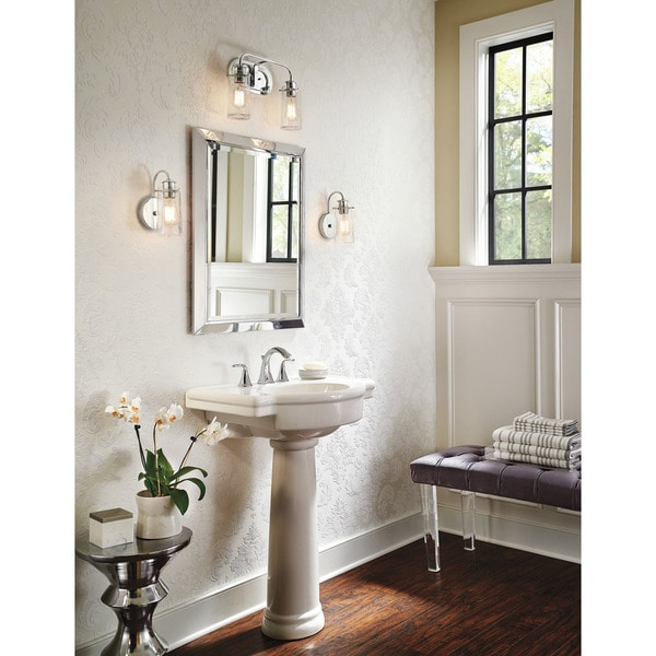 Kichler Lighting Braelyn Collection 2 Light Chrome Bath Vanity Light Free Shipping Today