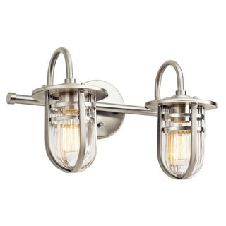 Kichler Lighting Caparros Collection 2-light Brushed Nickel Bath/Vanity Light