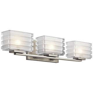 Kichler Lighting Bazely Collection 3-light Brushed Nickel Bath/Vanity Light