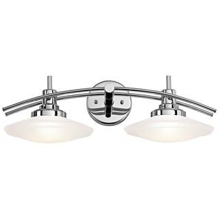 Kichler Lighting Structures Collection 3 Light Brushed Nickel Halogen Bath Vanity Light Free