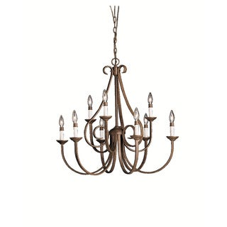 Kichler Lighting Dover Collection 9-light Tannery Bronze Chandelier