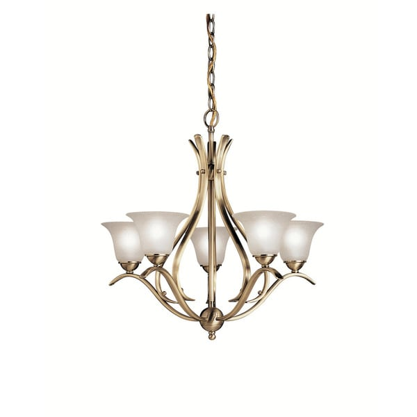 Light Collections: Kichler Lighting Dover Collection 5-light Antique Brass