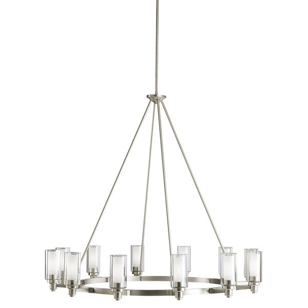 Kichler Lighting Circolo Collection 12-light Brushed Nickel Chandelier  sc 1 st  Overstock : brushed nickel chandelier lighting - azcodes.com