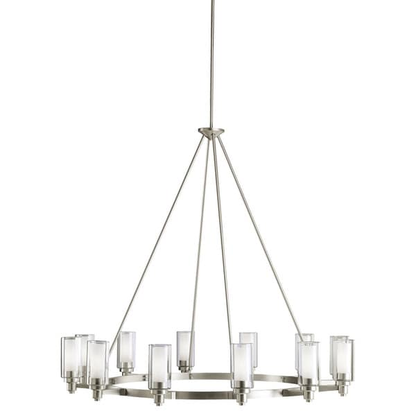 Kichler Lighting Circolo Collection 12-light Brushed Nickel Chandelier  sc 1 st  Overstock & Kichler Lighting Circolo Collection 12-light Brushed Nickel ... azcodes.com
