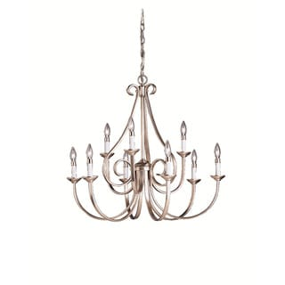 Kichler Lighting Dover Collection 9-light Brushed Nickel Chandelier