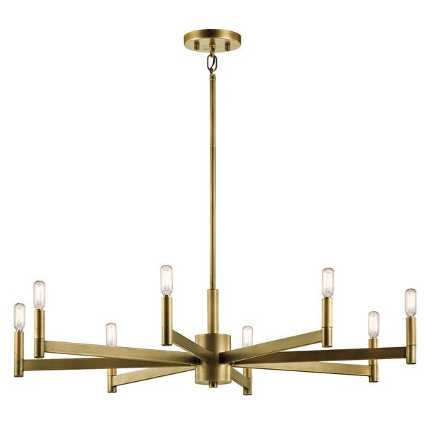 Erzo Collection Erzo  Light Chandelier In Natural Brass