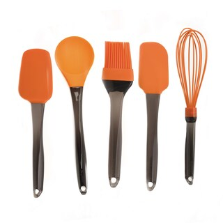 BergHOFF Geminis 5-piece Orange Silicone Whisk and Tool Set