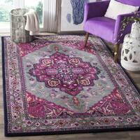 Safavieh Bellagio Handmade Bohemian Grey/ Pink Wool Rug (2' 6 x 4') - 2'6 x 4'