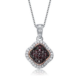 Collette Z Sterling Silver Dark Cubic Zirconia Pendant Necklace