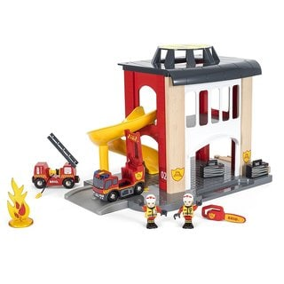 Brio Central Fire Station Multicolor Wood Play Set