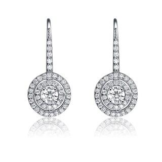 Collette Z Sterling Silver Cubic Zirconia Sun Dial Earrings - White