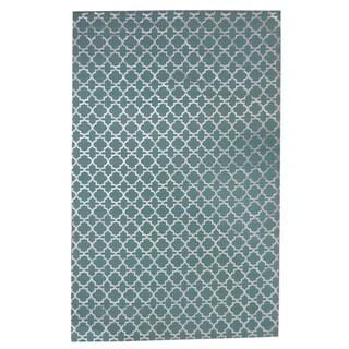 Foil Print Teal Indoor Accent Rug (5' x 8')