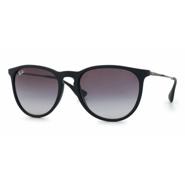 cd2b8eb24bb Ray Ban Women RB4171F ERIKA (F) 622 8G Black Metal Cateye Sunglasses