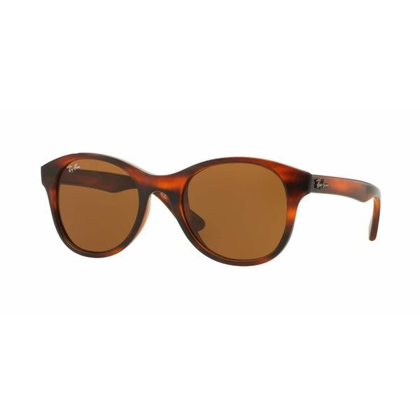 f95d89ebb4 Shop Ray Ban Women RB4203 820 73 Havana Plastic Round Sunglasses - Free  Shipping Today - Overstock - 13325392