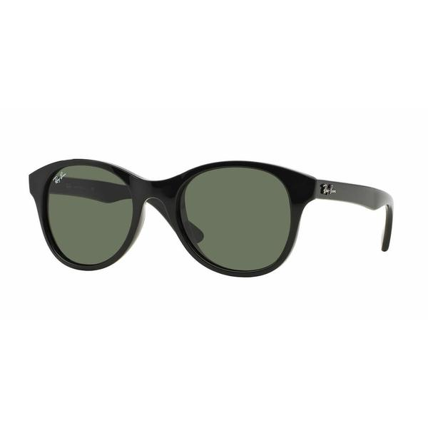 1aed9dff73 Shop Ray Ban Women RB4203 601 Black Plastic Round Sunglasses - Free  Shipping Today - Overstock.com - 13325396