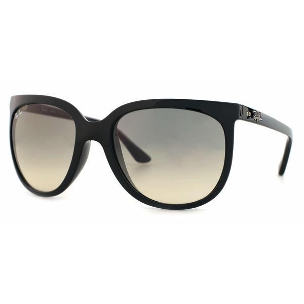 c35104bb45 Ray Ban Women RB4126 CATS 1000 601 32 Black Plastic Cat Eye Sunglasses