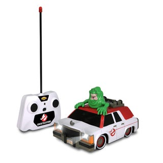 Nkok Ghostbusters Multicolor Plastic RC Ecto-1 with Glowing Slimer