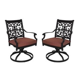 St Cruz Aluminum Chairs (Set of 2) - Antique Bronze
