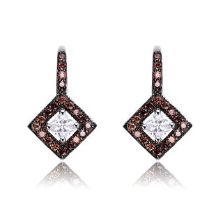 Collette Z Sterling Silver Cubic Zirconia Dark Drop Earrings