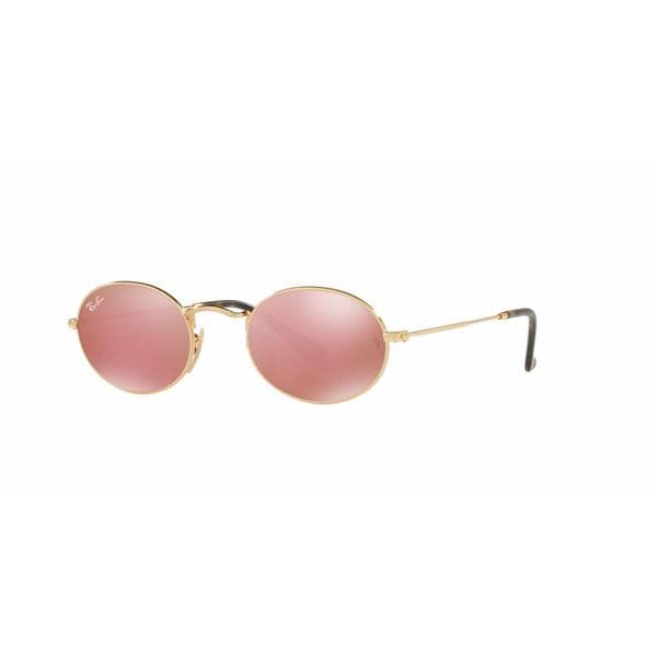e891c1b01a Shop Ray Ban Women RB3547N 001 Gold Metal Oval Sunglasses - Free Shipping  Today - Overstock - 13325436