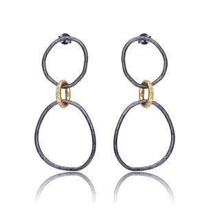 Collette Z Sterling Silver Cubic Zirconia Multi-Ring Earrings