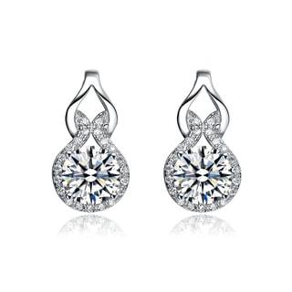 Collette Z Sterling Silver Cubic Zirconia Fancy Drop Earrings