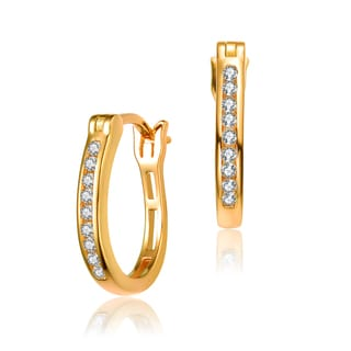 Collette Z Gold Overlay Cubic Zirconia Linear Earrings