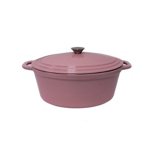 BergHOFF Neo Pink Cast Iron 5-quart Oval Covered Casserole Dish