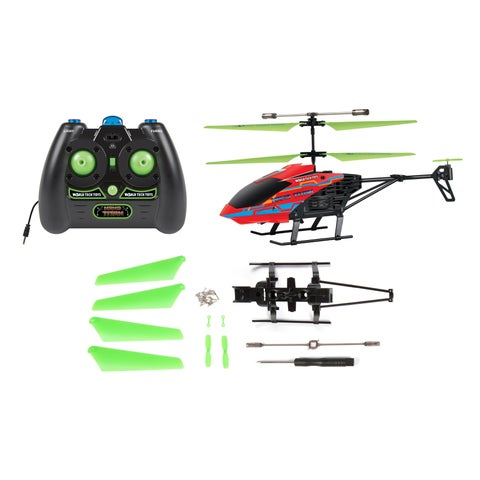 World Tech Toys Nano Titan X 3.5-channel RC Helicopter with Replacement Parts Bundle
