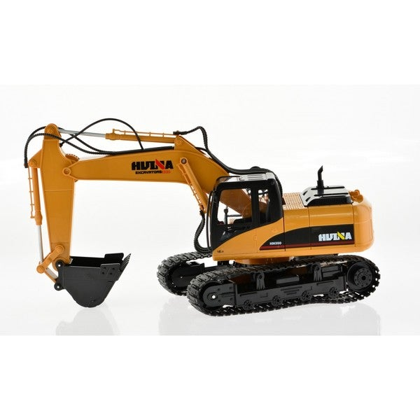 Yellow RC 15-channel Excavator with Die-cast Bucket