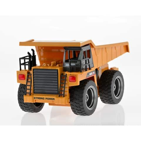 Yellow Die Cast RC Dump Truck Toy