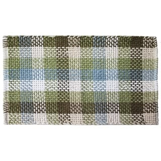 Carson Indoor Red/Green/Brown Cotton Accent Rug (2' x 3')