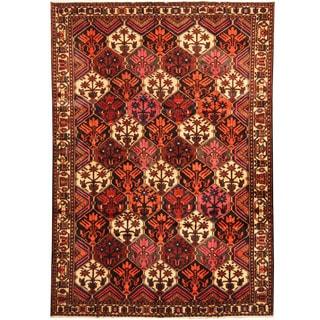 Herat Oriental Persian Hand-knotted Tribal Bakhtiari Wool Runner (6'10 x 9'9)