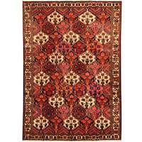 Handmade Herat Oriental Persian Tribal Bakhtiari Wool Runner  - 6'10 x 9'9 (Iran)