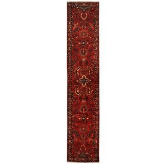 Herat Oriental Persian Hand-knotted Tribal Hamadan Wool Runner (2'9 x 14'3)