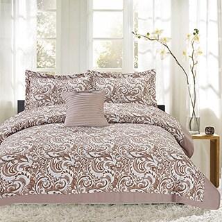 City Paisley 4 Piece Print Reversible Comforter Set