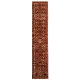 Herat Oriental Persian Hand-knotted Tribal Hamadan Wool Runner (2'10 x 3'10)