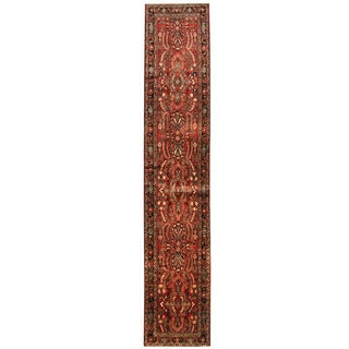 Herat Oriental Persian Hand-knotted Tribal Hamadan Wool Runner (2'8 x 14'1)