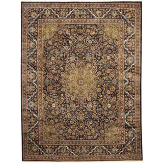 Herat Oriental Persian Hand-knotted Tribal Kashmar Wool Runner (9'6 x 12'7)