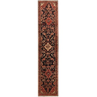 Herat Oriental Persian Hand-knotted Tribal Hamadan Wool Runner (2'11 x 13'9)