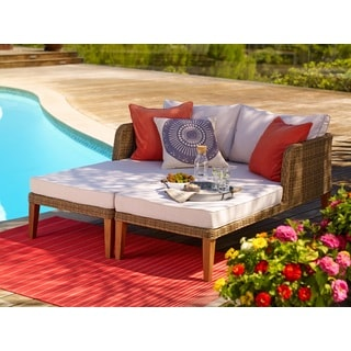 Lazio Outdoor Patio 2-Piece Chaise Lounge Set