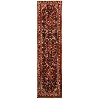 Herat Oriental Persian Hand-knotted Tribal Hamadan Wool Runner (3'5 x 13'8)